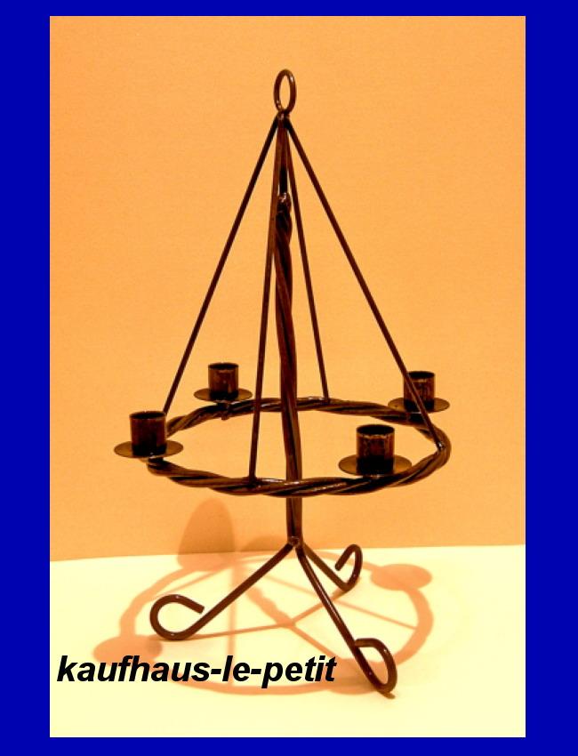 adventskranz metall mit st nder kerzen kerzenleuchter ebay. Black Bedroom Furniture Sets. Home Design Ideas