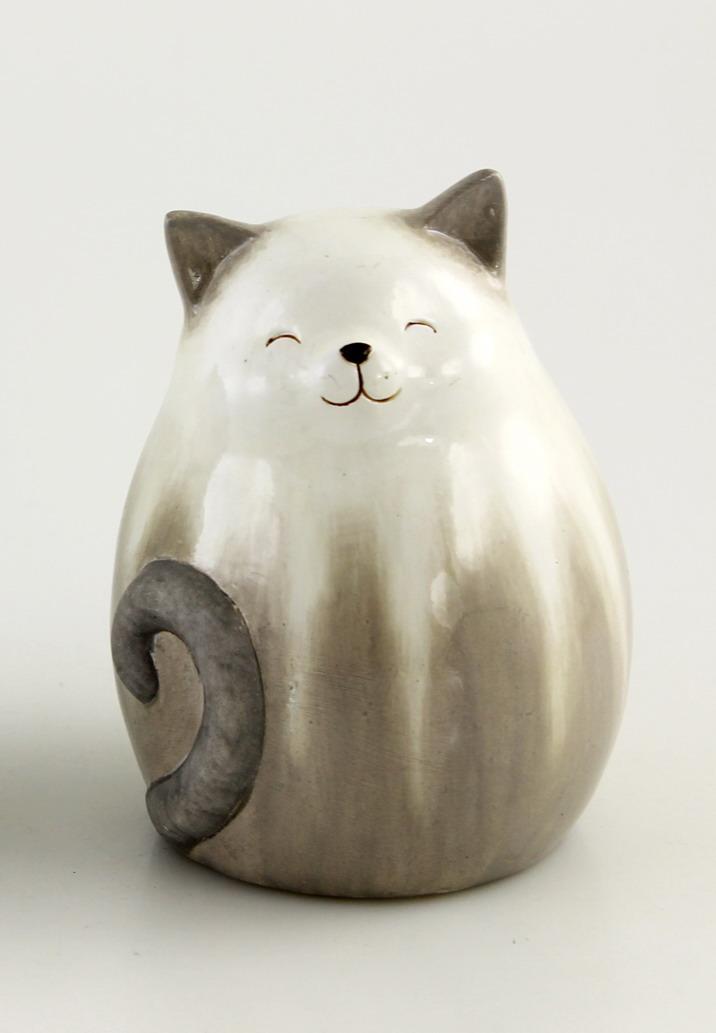 Katze katzen keramik katzenfigur garten deko tier figur - Keramik katzen fur garten ...