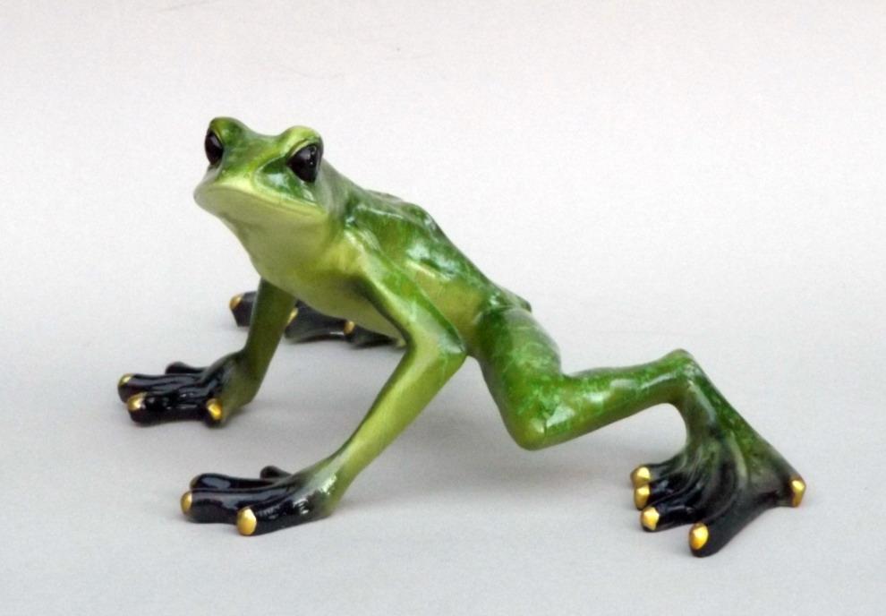 frosch kr te unke lurch fr sche deko tier figur skulptur froschk nig laubfrosch ebay. Black Bedroom Furniture Sets. Home Design Ideas
