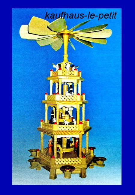 pyramide weihnachtspyramide aus holz ca 50 cm 4 st ckig weihnachtsdeko deko ebay. Black Bedroom Furniture Sets. Home Design Ideas
