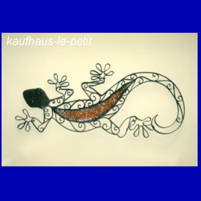 Gecko metall gekko wanddekoration eidechse deko tier figur - Wanddeko eidechse ...